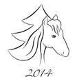 Horse NY 2 vector image