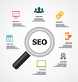Infographic SEO Background vector image