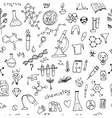 Chemistry background seamless pattern for your vector image
