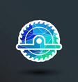 Circular Saw icon button logo symbol concept vector image