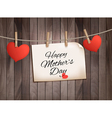Retro holiday mother day background with red paper vector image