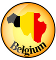 button Belgium vector image