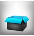 3D black blue box vector image vector image