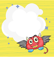 A stationery with a bat vector image vector image