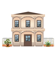 A two-story single detached building vector image