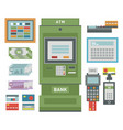 atm icons vector image