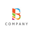 b logo vector image vector image
