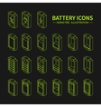 Battery web line icons symbol sign and design vector image