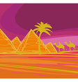 Bedouin camel caravan in wild africa landscape vector image vector image
