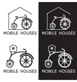 bicycle in design of mobile houses vector image vector image