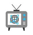big old television vector image