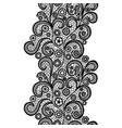 black lacy vintage elegant trim vector image vector image
