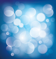 blue bokeh background vector image vector image
