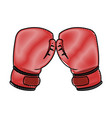 boxing glove isolated vector image vector image