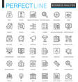 business analytics thin line web icons set vector image vector image