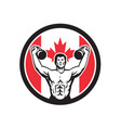 canadian physical fitness canada flag icon vector image vector image