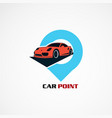 car point with modern concept logo icon element vector image vector image