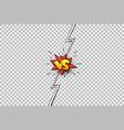 cartoon comic book versus background vector image vector image