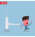 Cartoon syringe run chase patient - - EPS10 vector image vector image