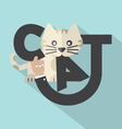 Cat Typography Design vector image vector image