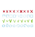 check marks collection approve false reject signs vector image