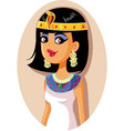 cleopatra egyptian queen vector image