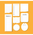 collection isolated to do list wish vector image