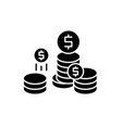 company profit black icon sign on isolated vector image vector image