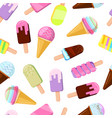 different ice creams vector image