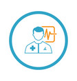 doctor consultation and medical services icon flat vector image