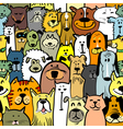 dogs and cats seamless vector image vector image