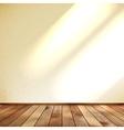 Empty beige wall and wooden floor room EPS 10 vector image