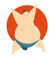 Fat Sumo fighter vector image vector image