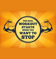 fitness concept strong arms with big vector image vector image