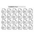 flat style icon set systemcommon file type vector image vector image