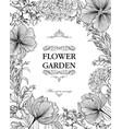 floral background flower bouquet cover flourish vector image vector image