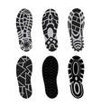 footprints shoe set vector image vector image