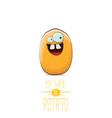 funny cartoon cute tiny potato character vector image