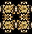 golden floral seamless pattern golden element on vector image vector image