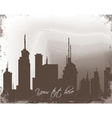 grunge background with city vector image vector image