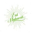 handwritten Eid Mubarak retro label vector image vector image