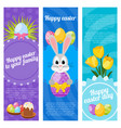 happy easter day vertical banners vector image vector image
