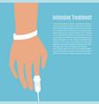 hospital patient hand vector image vector image