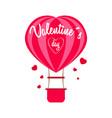 hot air heart balloon vector image