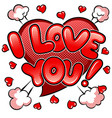 i love you words comic book pop art vector image vector image