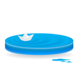 icon wave papership vector image vector image