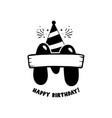initial birthday m letter happy birthday monogram vector image