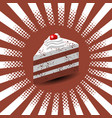 international cake day piece of cake dessert vector image vector image