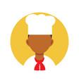 man chef professional person flat design icon vector image
