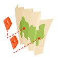 map icon isometric 3d style vector image vector image